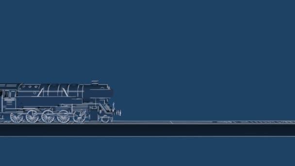 Steam train blueprint cartoon animation stock video marsea steam train blueprint cartoon animation stock video malvernweather Choice Image
