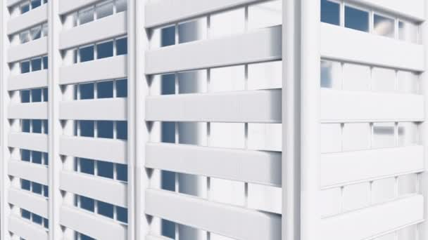 Abstract high rise building exterior wall Close up