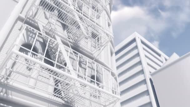 Fire escape ladder scale model building