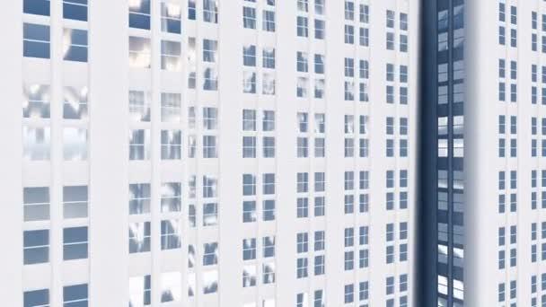 Abstraktní bílé výšková administrativní budova