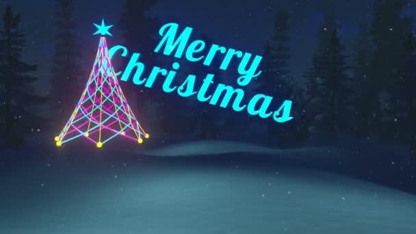 Merry Christmas night animation