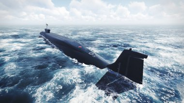 Russian Borei class submarine at the northern water 2