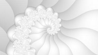 White fractal spiral background