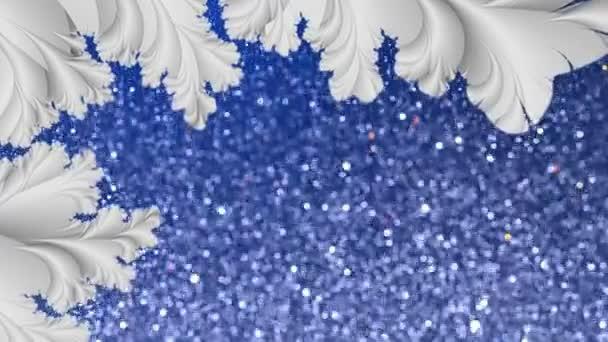 Frattalo astratto e nevicate sfondo ciclo di movimento