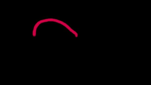 Zeichnung von Herzen von rote Kreide auf schwarzem Hintergrund