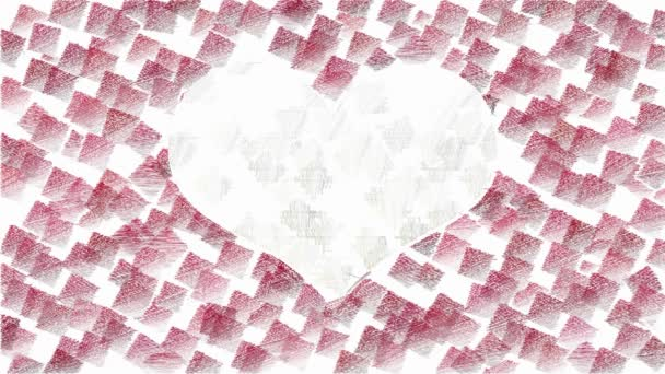 Valentinky den animované pozadí