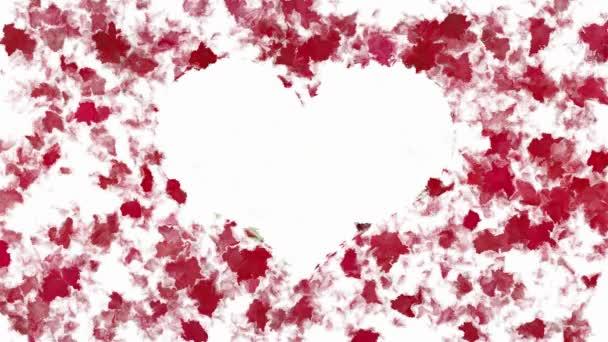 Abstraktní malba srdce symbolu animace