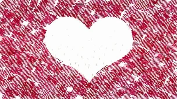 Symbol srdce animovaný náměstí tahy formy