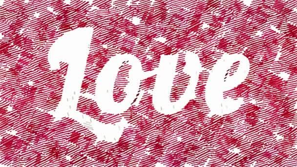 Animované čtvercové tahy tvoří slovo láska