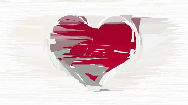Abstract red heart decorative animation