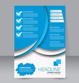 Abstraktní flyer design pozadí. Brožura šablona