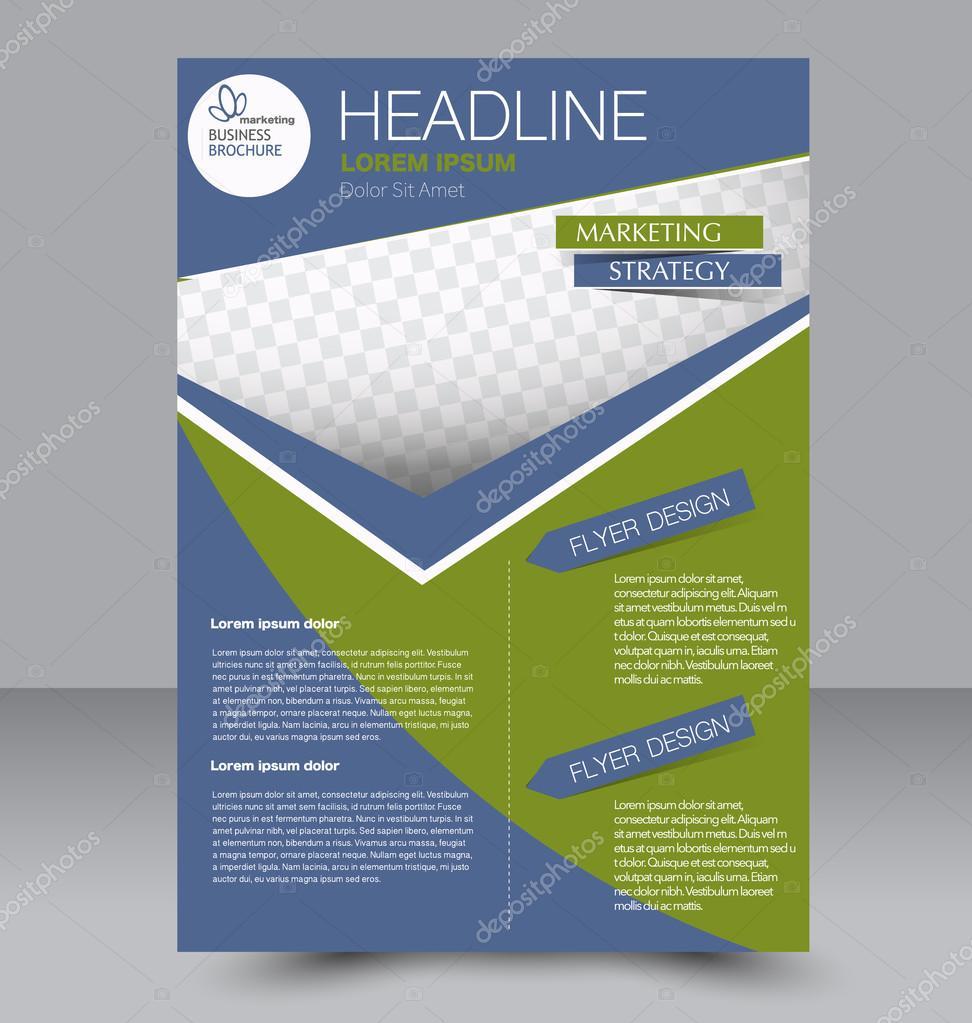 Abstrakte Flyer Design-Hintergrund. Broschüre-Vorlage — Stockvektor ...