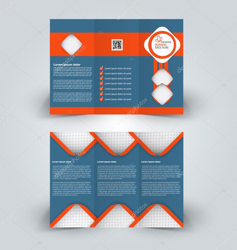 Folleto simulacro a la plantilla de diseño para negocios, educación ...