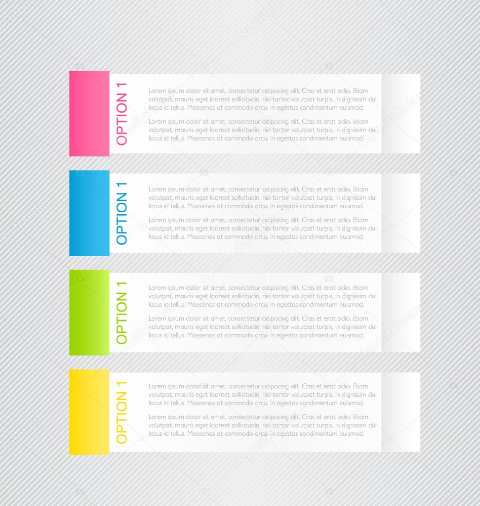 Modern infographics colorful web design template with shadow vector ...