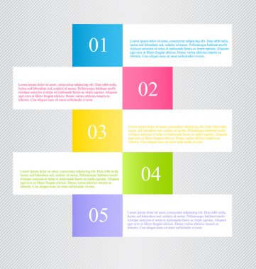 Modern infographics colorful web design template with shadow vector illustration