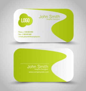 Business card design set template for company corporate style.