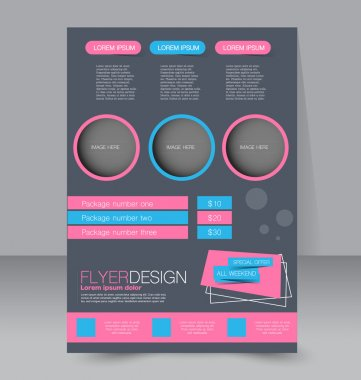 Flyer template. Business brochure