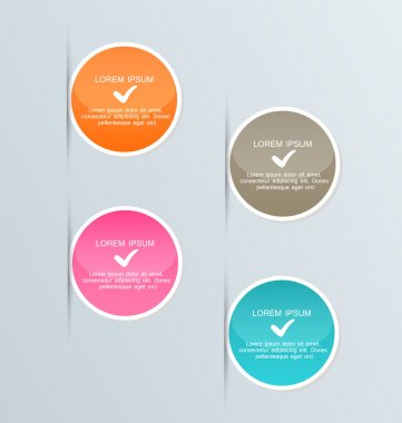 Infographic template with step options for business, startup concept, web design, data visualization, banner, brochure or flyer layouts, presentation, education