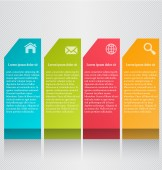 Business infographics tabs template for presentation, education, web design, banners, brochures, flyers.