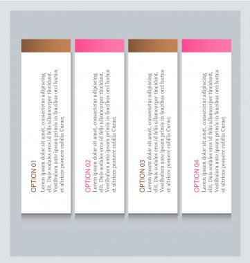Business infographics template for presentation, education, web design, banners, brochures, flyers. Brown and pink colors.