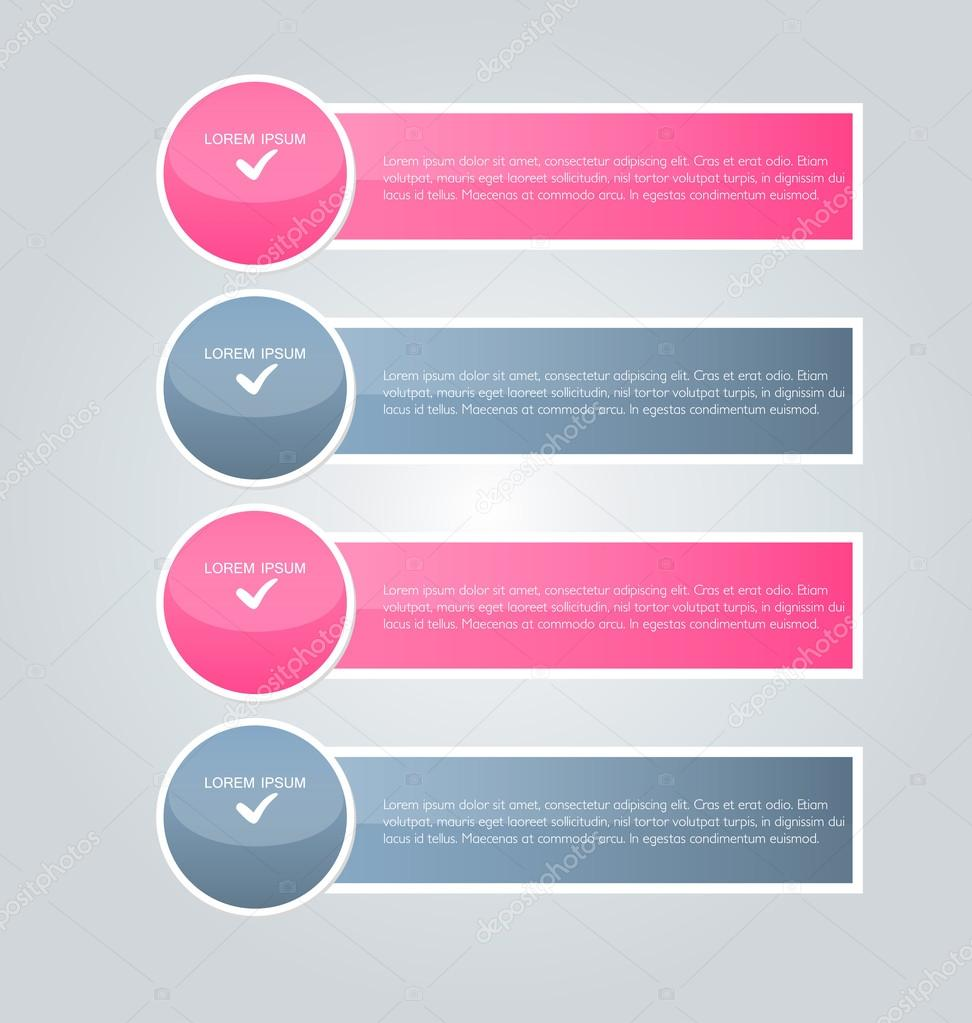 business presentation infographics template ストックベクター