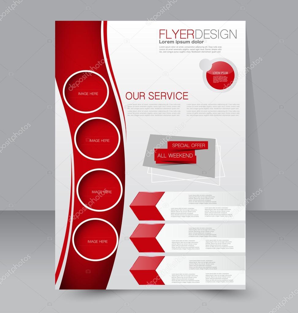 business flyer brochure poster template ストックベクター