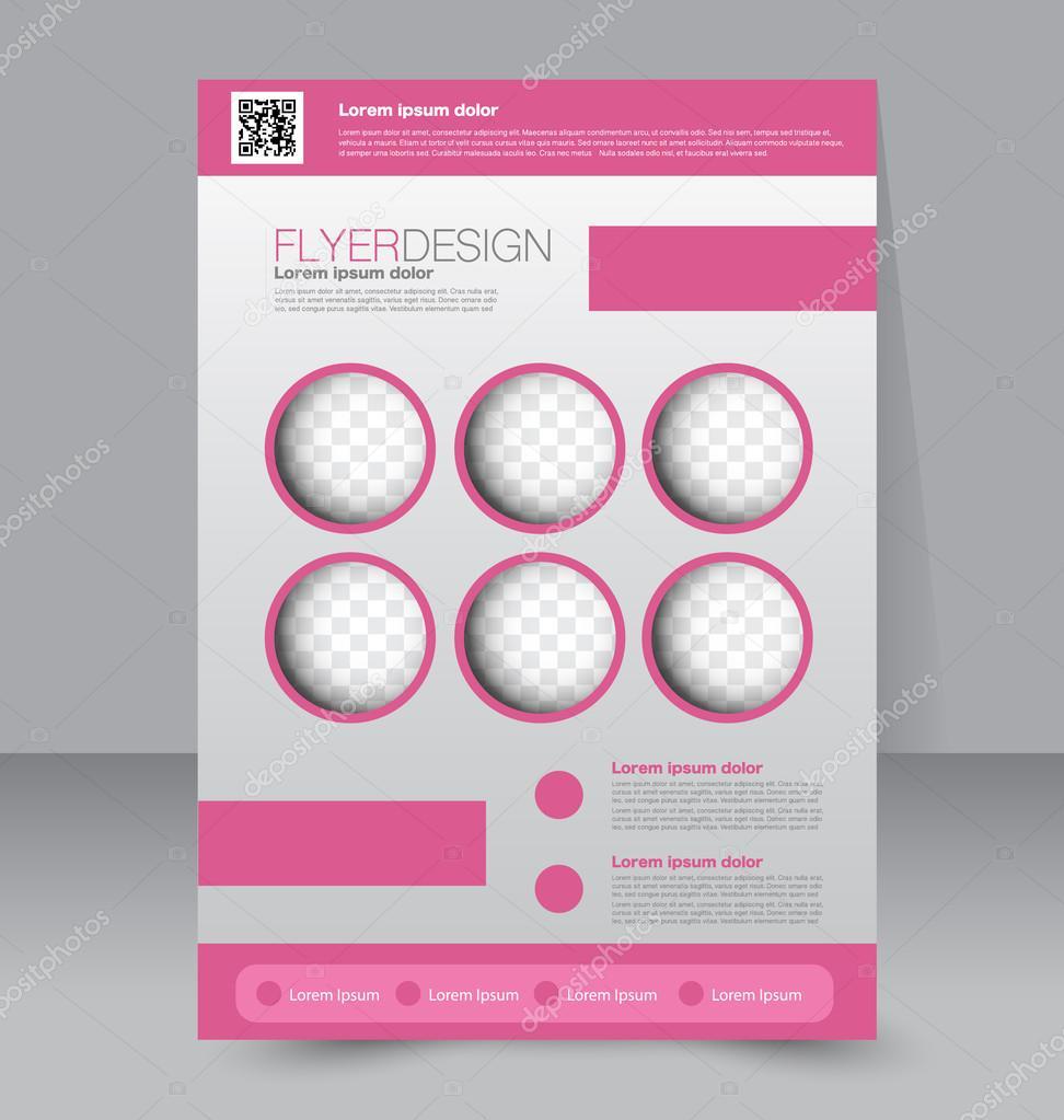 flyer business brochure template ストックベクター milana88