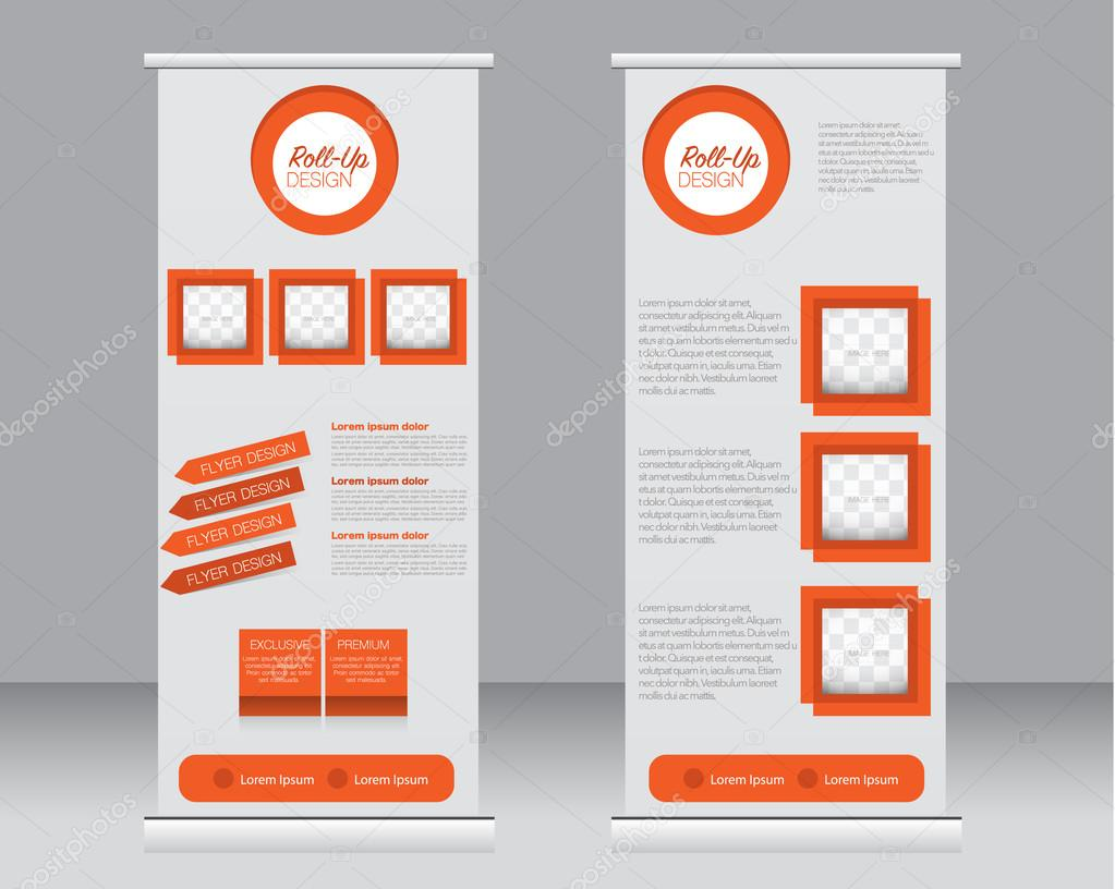 Roll up banner stand template. Abstract background for design ...