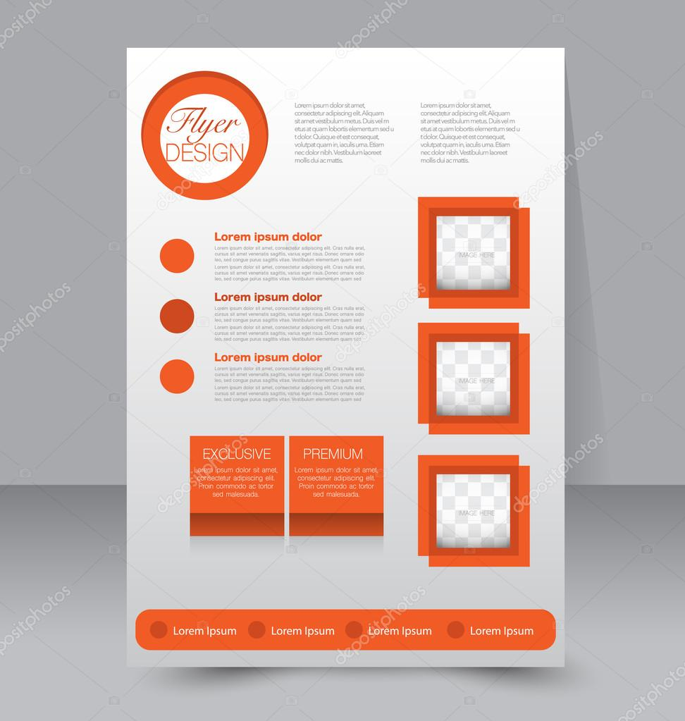 flyer template brochure design editable a4 poster stock vector
