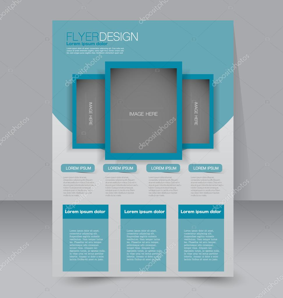 Azure Flyer Template | Flyer Template Brochure Design Editable A4 Poster Vector De