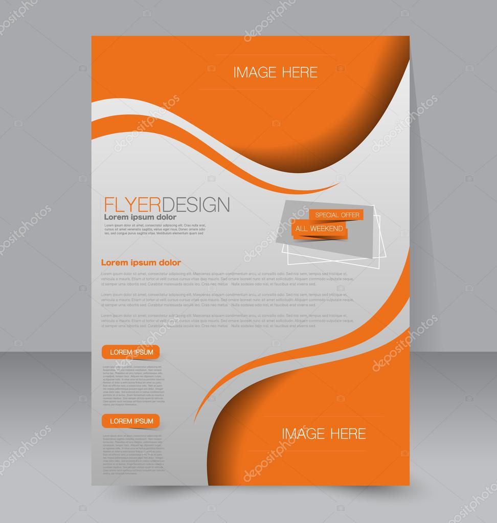 Flyer Template Brochure Design Editable A4 Poster Stock Vector