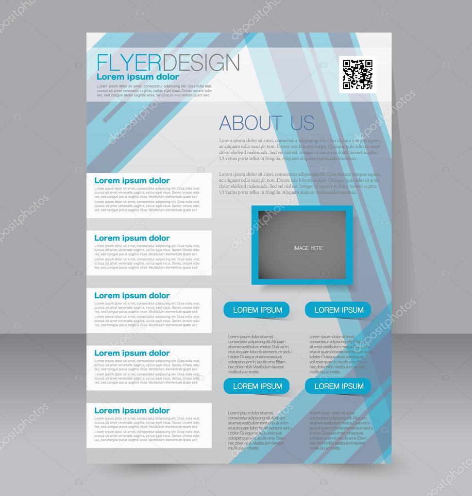 Azure Flyer Template | Flyer Template Brochure Design Editable A4 Poster Archivo