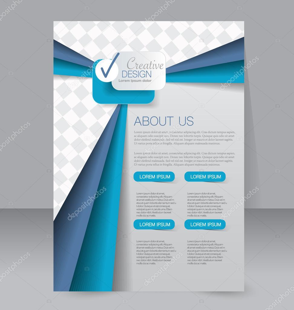 Azure Flyer Template   Flyer Template Brochure Design Editable A4 Poster Archivo