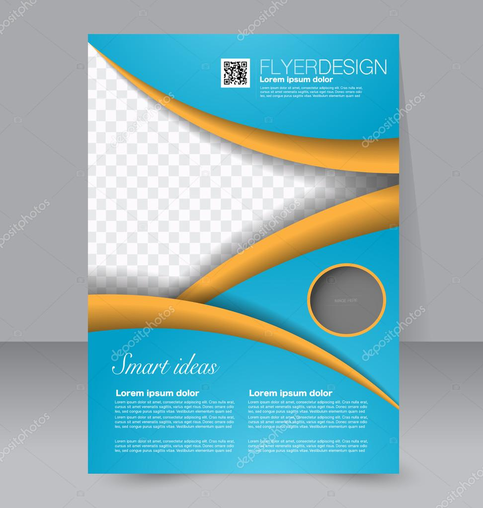 flyer template brochure design editable a4 poster vettoriali