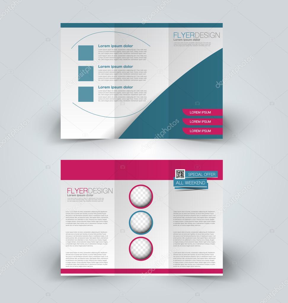 conjunto de plantillas de diseño de folleto — Archivo Imágenes ...