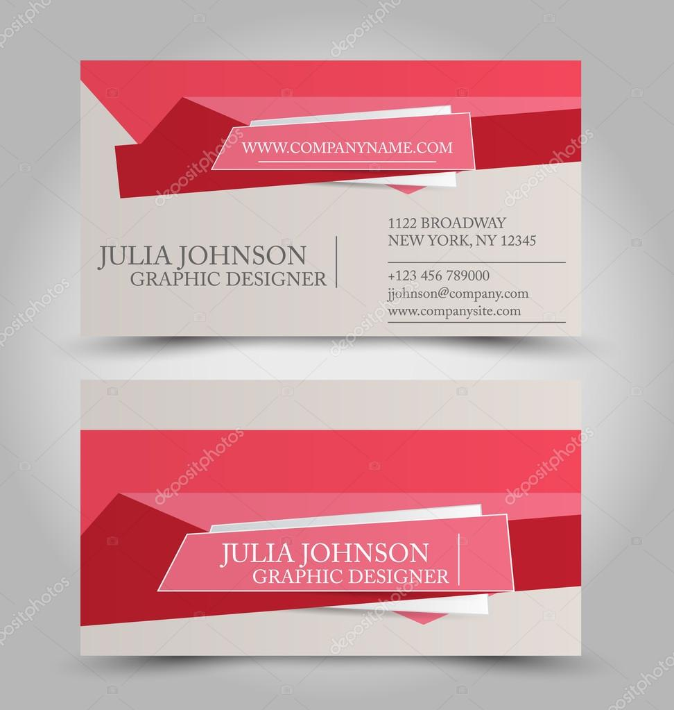 Business card templates set stock vector milana88 97335496 business card design set template for company corporate style red color vector illustration vector by milana88 reheart Choice Image