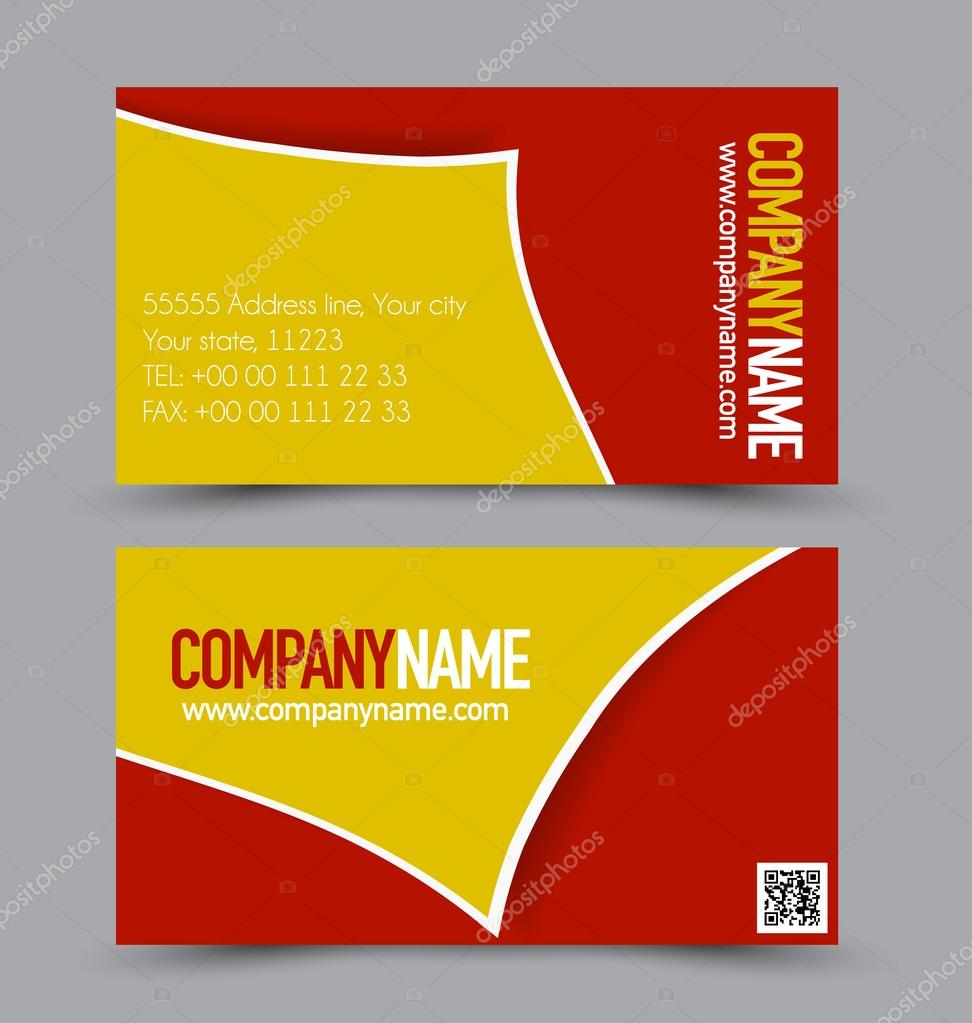 Business card templates set stock vector milana88 97335568 business card design set template for company corporate style red and yellow color vector illustration vector by milana88 reheart Choice Image