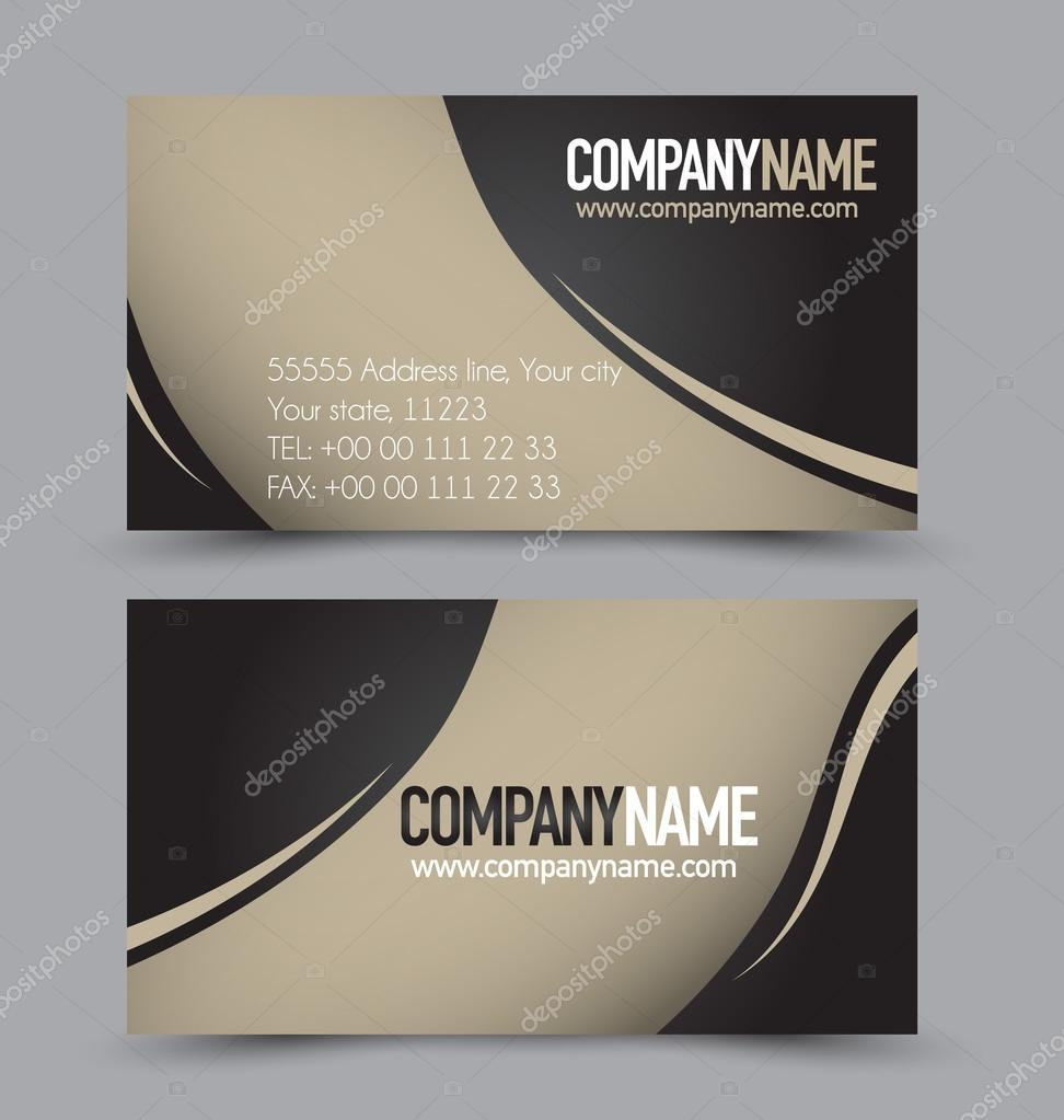 Business card templates set stock vector milana88 97335840 business card design set template for company corporate style black and brown color vector illustration vector by milana88 reheart Choice Image