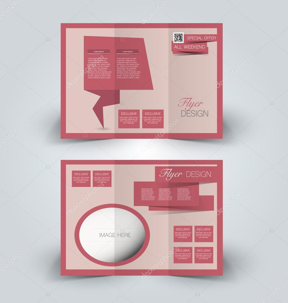 Trifold Broschüre Mock-up-Design-Vorlage — Stockvektor © Milana88 ...