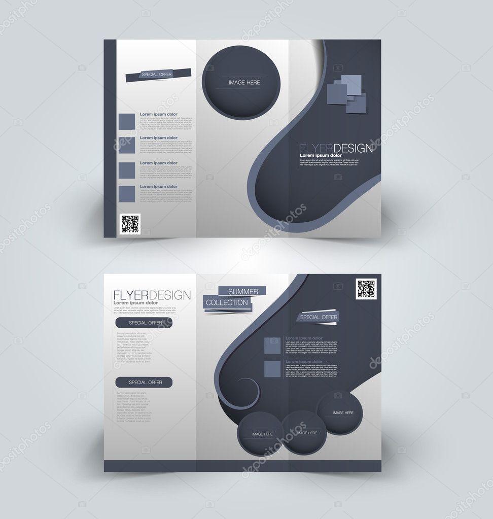 trifold brochure mock up design template stock vector milana88
