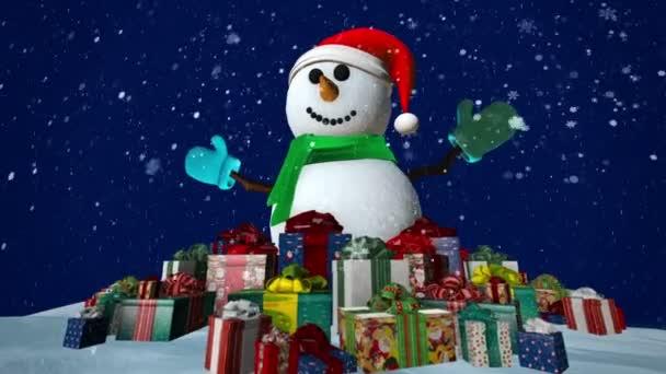 hóember ajándékokkal