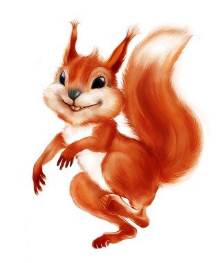 Colorful smiling squirrel