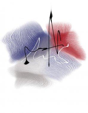 Abstract flower illustration stock vector
