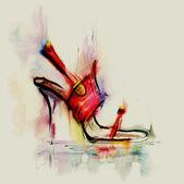 Fényképek Piros magas sarkú cipő