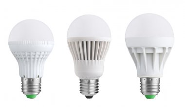 LED bulbs isolated on white background