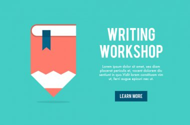 Banner concept for writing workshop