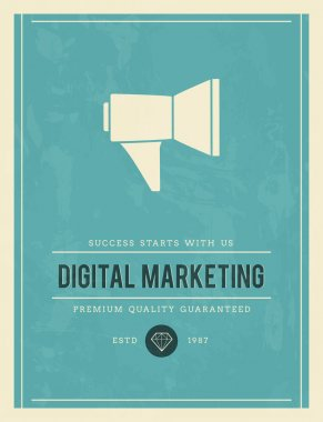Vintage poster for digital marketing