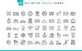 Sada 50 cestovní ikon