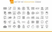 50 oktatás ikonok