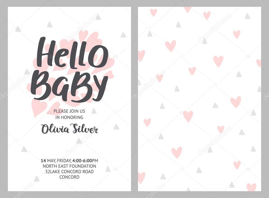 Fondos Baby Shower Unisex Invitación De Niña Y Niño De